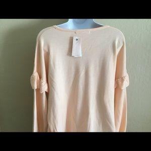Sweaters - peach philosophy ✨long sleeve sweater w/ruffles